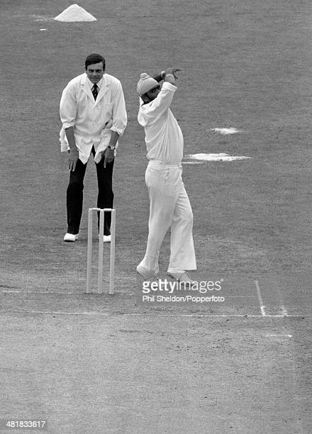 Bishan Singh Bedi bowling for India during the 2nd Test Match between England and India at Lord's Cricket Ground in London 4th August 1979 The umpire...
