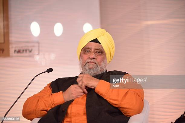 Bishan Singh Bedi former Indian Cricket Captain during a session on 'Can BCCI Be Professionalized' at Hindustan Times Leadership Summit 2015 on...