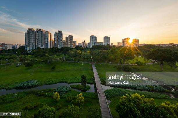 bishan sunrise - singapore stock pictures, royalty-free photos & images