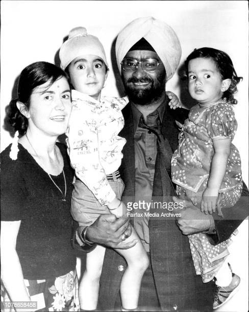 Bishen Bedi with his wife Glen and their two children Gabby and boy Jill The Indian Cricket team passed through Sydney this morning on their way to...
