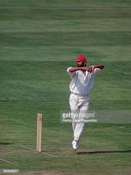 Bishen Singh Bedi bowling at Lord's Indian Tour of England 1974