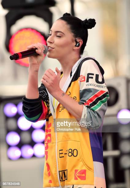 Bishop Briggs peforms onstage at KROQ Weenie Roast 2018 at StubHub Center on May 12 2018 in Carson California