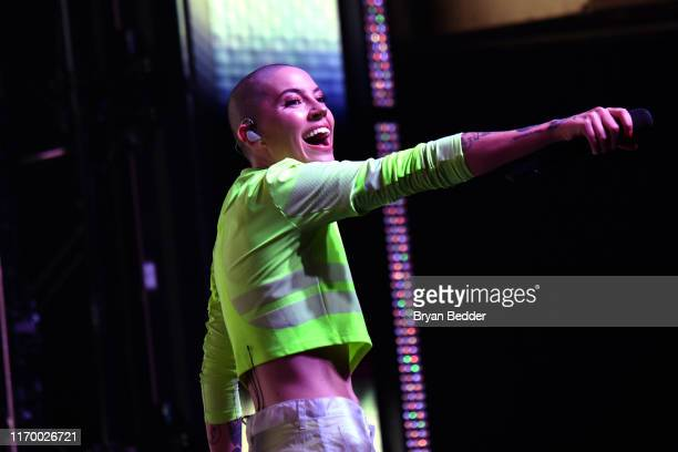 Bishop Briggs performs at at VMA Kick Off Concert Presented By Altice Amplify With Special Guests Bishop Briggs And Ava Max at Webster Hall on August...