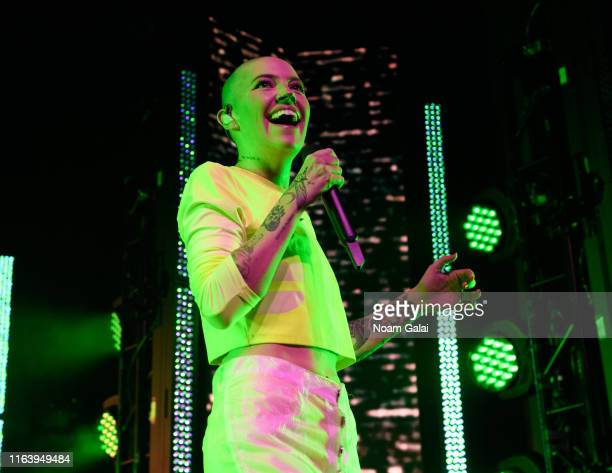 Bishop Briggs performs at the 2019 MTV VMA Kick Off Concert at Webster Hall on August 24 2019 in New York City