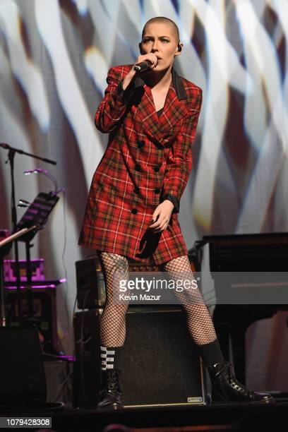 Bishop Briggs performs onstage during Cyndi Lauper's 8th Annual 'Home For The Holidays' Benefit Concert at Beacon Theatre on December 08 2018 in New...