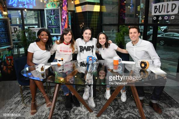 Bishop Briggs poses with hosts Brittany JonesCooper Shannon Coffey Ali Kolbert and Lukas Thimm during Build Brunch at Build Studio on August 13 2018...