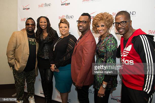 Bishop Hezekiah Walker Yolanda Adams Tamela Mann VaShawn Mitchell Dorinda ClarkCole and Donald Lawrence during Verizon's How Sweet the Sound 2013...