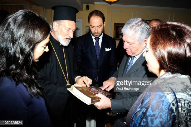 Bishop Irinej and Prince Dushan of Yugoslavia Prince Alexander of Serbia attend Lifeline New York Hosts Annual Benefit Luncheon At The Liederkranz...