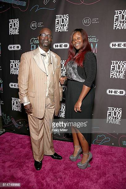 Bishop Jones and Alexis Jones attend the Austin Film Society's 2016 Texas Film Awards at Austin Studios on March 10 2016 in Austin Texas