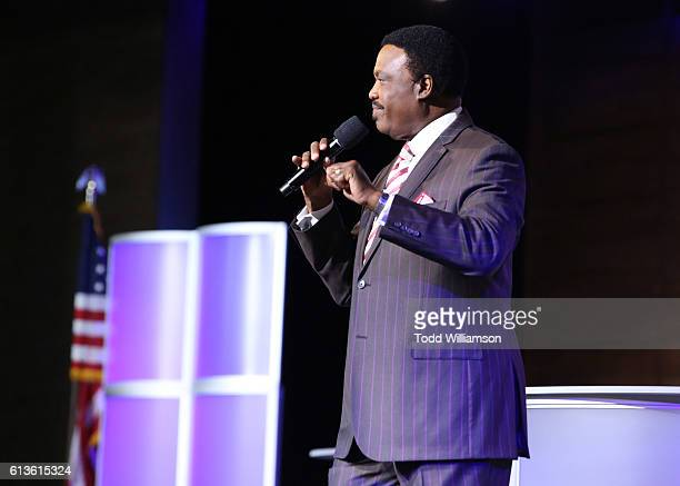 Bishop Kenneth Ulmer introduces the Inform Your Vote President Election Debate at The Tabernacle on October 8 2016 in Inglewood California