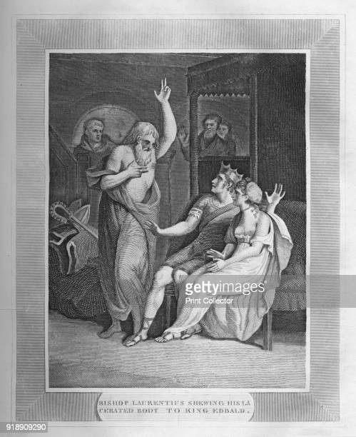 'Bishop Laurentius Shewing His Lacerated Body To King Edbald' 1838 Laurence the second Archbishop of Canterbury from about 604 to 619 Eadbald was...