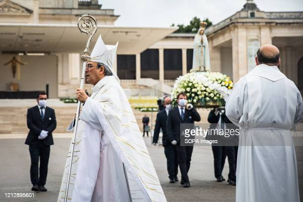 Bishop of LeiriaFatima Dom Antonio Cardeal Marto seen during the procession Due to the COVID19 pandemic this year's ceremonies are closed to pilgrims...