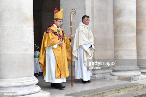 Bishop of the French Armies Antoine de Romanet goes to celebrate the Wedding of Prince JeanChristophe Napoleon and Olympia Von ArcoZinneberg at Les...