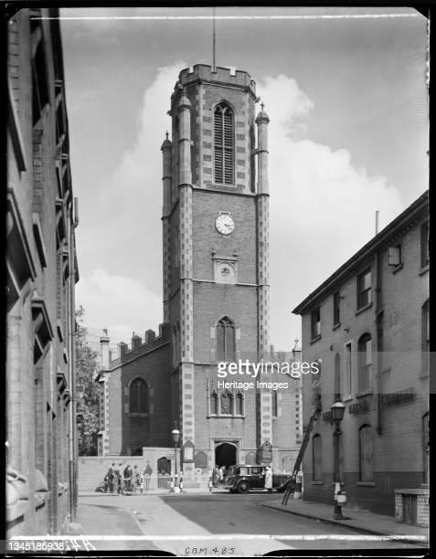 Bishop Ryder's Church, Gem Street, Gosta Green, Birmingham, 1941. Bishop Ryder's Church viewed from Vauxhall Street. The Bishop Ryder Memorial Church...