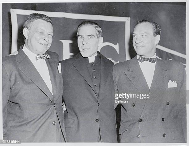 Bishop Sheen to Broadcast Exclusively for ABC New York New York Robert E Kintner left president of the American Broadcasting Company His Excellency...