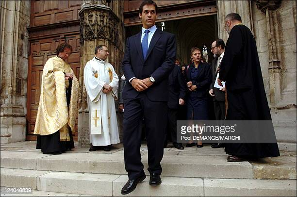Bishop The Prince Louis de Bourbon Duke of Anjou in visit in Lorraine France on September 27 2006 Mister Prince Louis de Bourbon Duke of Anjou at the...
