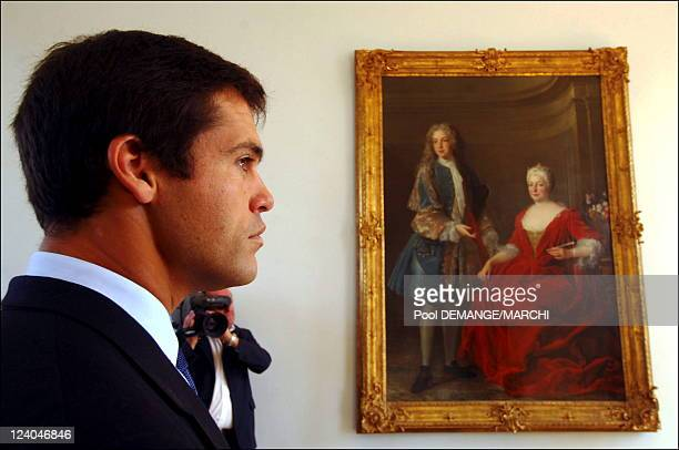 Bishop The Prince Louis de Bourbon Duke of Anjou in visit in Lorraine France on September 27 2006 Mister Prince Louis de Bourbon Duke of 'Anjou at...