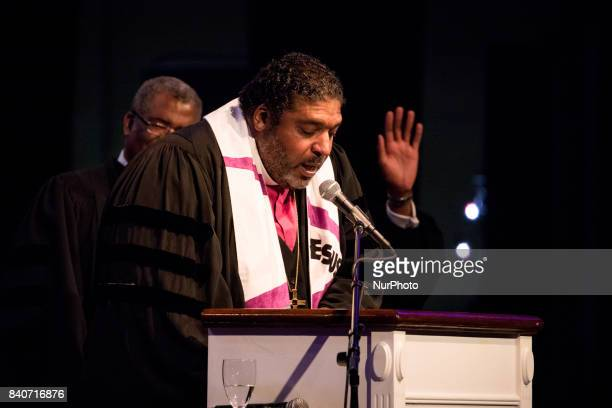 Bishop William J Barber II Pastor Greenleaf Christian Church Disciples of Christ Goldsboro NC gave the sermon at Howard Universitys Andrew Rankin...