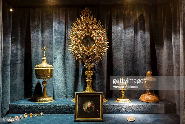 Bishops' belongings at Schloss Johannisburg museum in Aschaffenburg Germany 14 May 2015 one of the most important buildings of the Renaissance period...