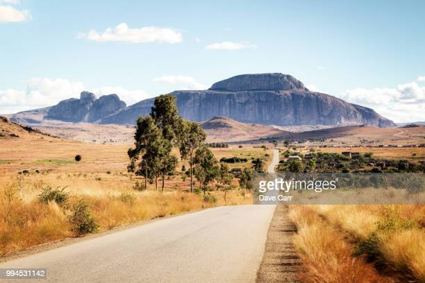 bishop's hat mountain - madagascar stock photos and pictures