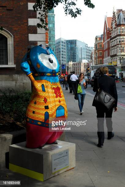 Bishopsgate Wenlock, Olympic Mascot Sculpture temporarily installed on Bishopsgate, City of London, UK during the 2012 Olympic & Paralympic Games.