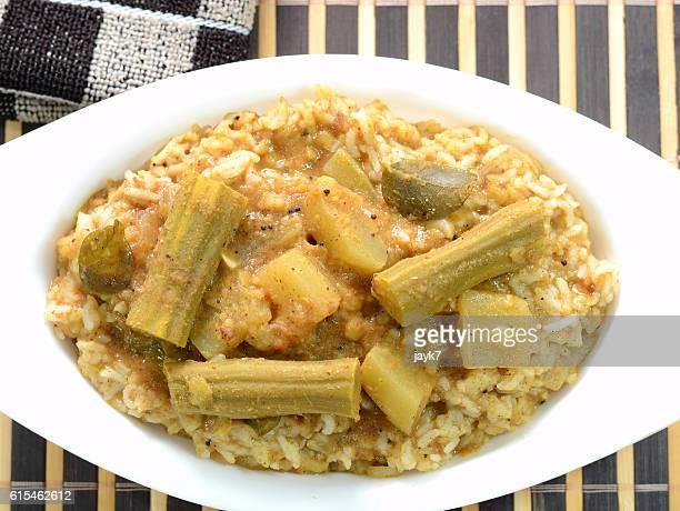 bisi bele bhath dish - moringa tree stock photos and pictures