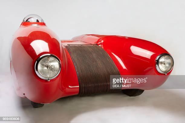 Bisiluro DaMolNar detail, racing car with aluminum body, designed by Mario Damonte, Carlo Mollino and Enrico Nardi. Italy, 20th century.