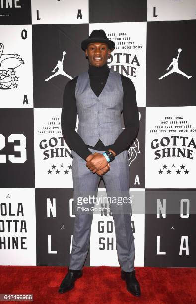 Bismack Biyombo of Orlando Magic attends Jordan Brand 2017 AllStar Party at Seven Three Distilling Co on February 17 2017 in New Orleans Louisiana