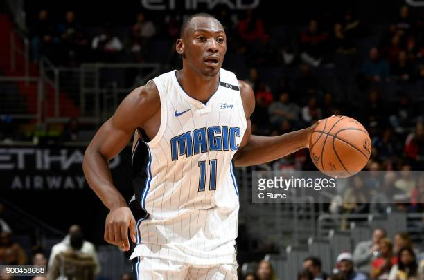 Bismack Biyombo of the Orlando Magic handles the ball against the Washington Wizards at Capital One Arena on December 23 2017 in Washington DC NOTE...