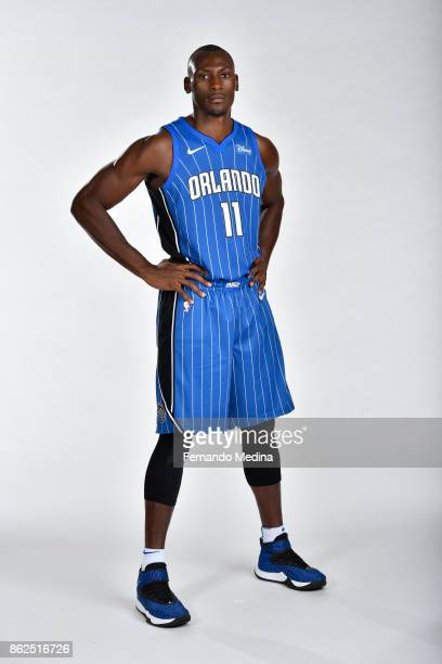 Bismack Biyombo of the Orlando Magic poses for a portrait during Magic Media Day 2 on October 6 2017 at Amway Center in Orlando Florida NOTE TO USER...