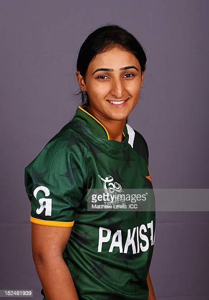 Bismah Mahroof of the Pakistan Womens Cricket Team poses for a portrait ahead of the Womens ICC World T20 at the Galadari Hotel on September 21 2012...
