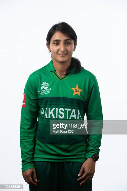 Bismah Maroof poses during the Pakistan 2020 ICC Women's T20 World Cup headshots session at Allan Border Field on February 15 2020 in Brisbane...