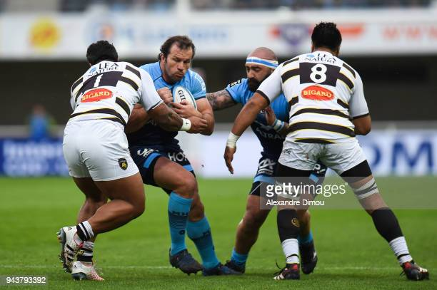 Bismarck Du Plessis of Montpellier during the French Top 14 match between Montpellier and La Rochelle at Altrad Stadium on April 8 2018 in...