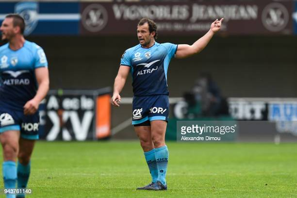 Bismarck Du Plessis of Montpellier during the Ligue 1 match between Olympique Marseille and Montpellier Herault SC at Stade Velodrome on April 8 2018...