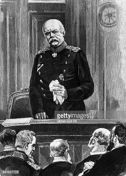 Bismarck Otto von *18151898Politician Germany1862 1890 Minister President of Prussia1871 1890 Reich ChancellorBismarck proclaiming the last decree of...