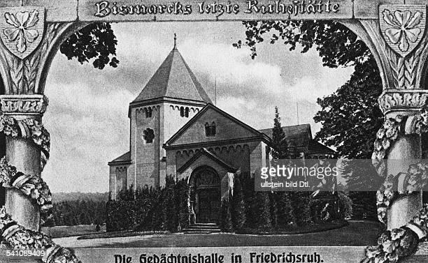 Bismarck Otto von *18151898Politiker DDie Gedächtnishalle in FriedrichsruhZeichnung