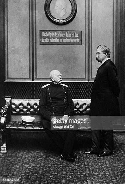 BismarckSchoenhausen Otto Eduard Leopold von Politician Germany in the Reichstag with Karl heinrich von Boetticher Photographer Julius Braatz...