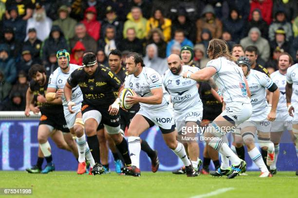 Bismark Duplessis of Montpellier during the French Top 14 match between La Rochelle and Montpellier on April 30 2017 in La Rochelle France