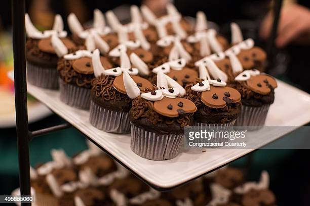 STATES NOVEMBER 4 Bison decorated cupcakes await to be eaten at the 4th annual Congressional National Bison Day Reception in the Rayburn Gold Room on...