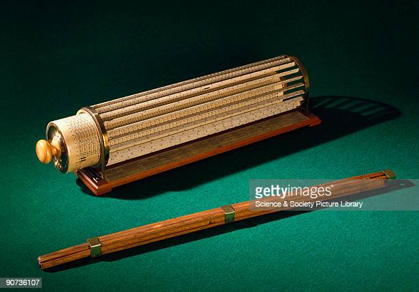 Bissaker's slide rule is the earliest dated straight slide rule The scales are mainly trigonometrical and logarithmic The instrument is inscribed...