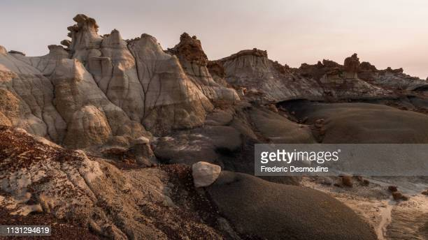 bisti/de-na-zin wilderness - forme stock photos and pictures