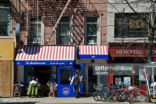 ビストロカフェシーン、アッパーイーストサイド、マンハッタン、ニューヨーク市 - アッパーイーストサイドマンハッタン ストックフォトと画像