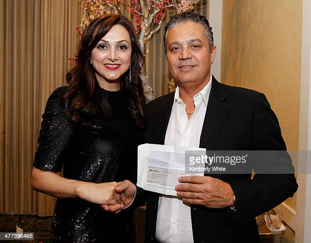 Bit Daryabari and Mathew Zaheri pose for a photograph at the PARS Equality Center 4th Annual Nowruz Gala at Marriott Waterfront Burlingame Hotel on...