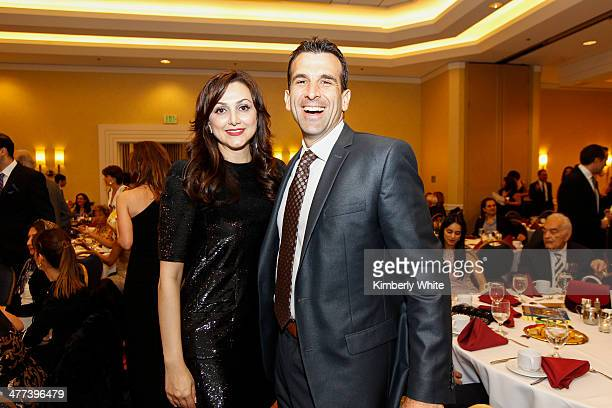 Bita Daryabari and Sam Liccardo pose for a photograph at the PARS Equality Center 4th Annual Nowruz Gala at Marriott Waterfront Burlingame Hotel on...