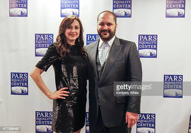 Bita Daryabari and Shervin Pishevar pose for a photograph at the PARS Equality Center 4th Annual Nowruz Gala at Marriott Waterfront Burlingame Hotel...