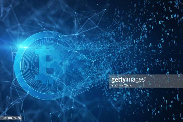bitcoin and network - cryptocurrency stock pictures, royalty-free photos & images