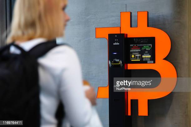 Bitcoin ATM machine is seen in Sopot Centrum complex in Sopot Poland on 13 September 2019