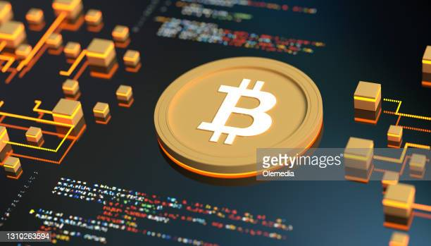 bitcoin cryptocurrency concept - bitcoin stock pictures, royalty-free photos & images
