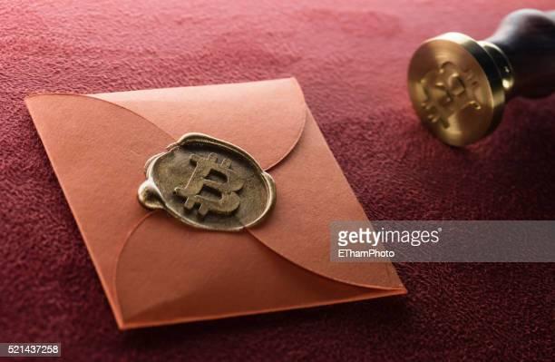 Bitcoin logo seal