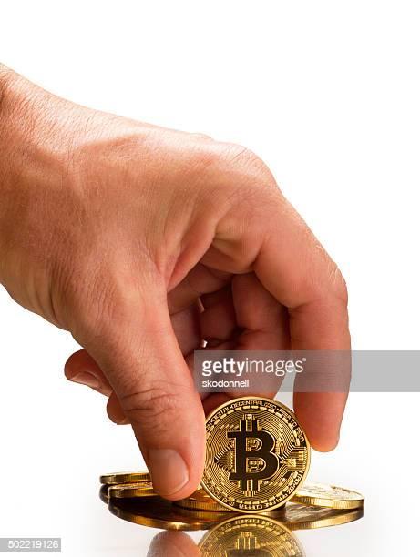 Bitcoin auf Weiß
